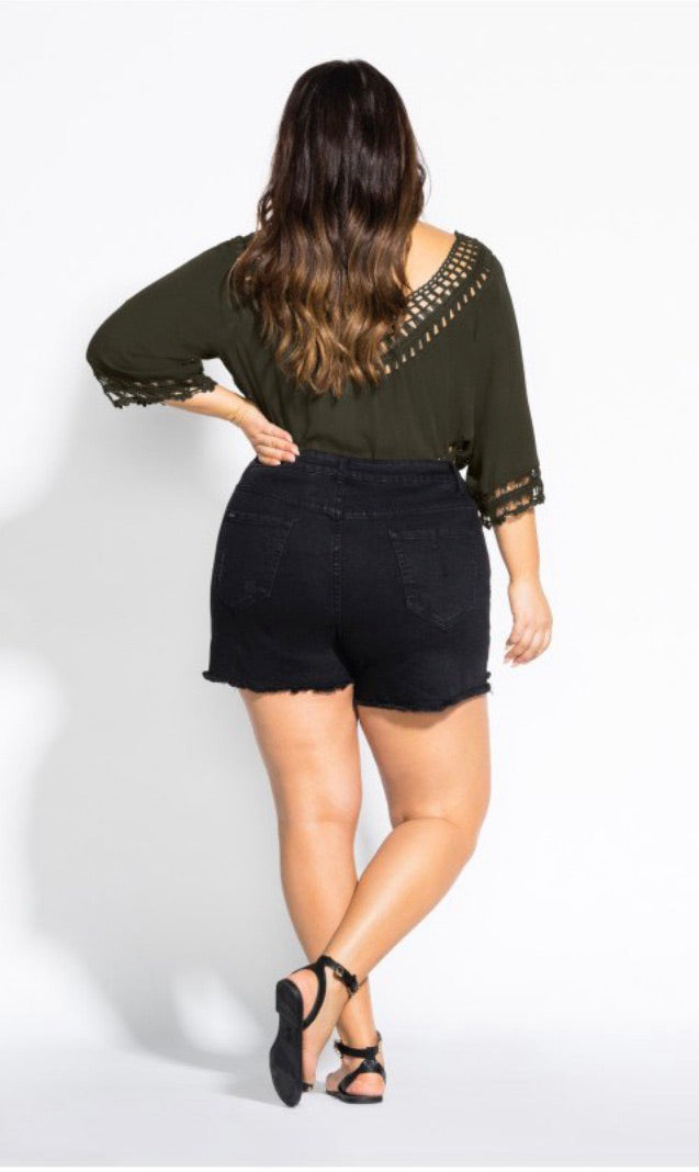 City Chic Catalina Top - Military