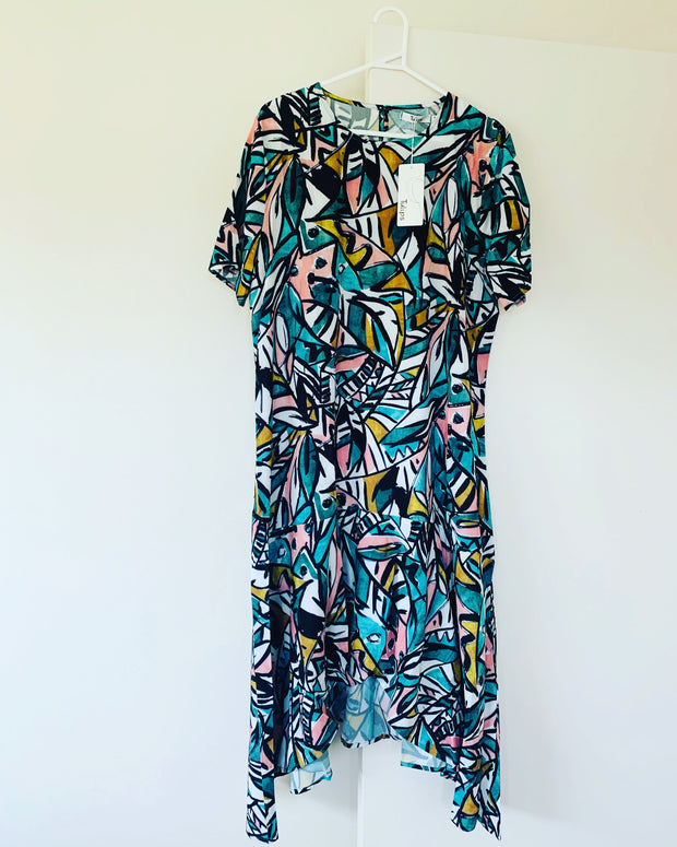 New // LITTLE PARTY DRESS 'Jessie' Abstract Print Dress // Best Suited To Sizes 16-18