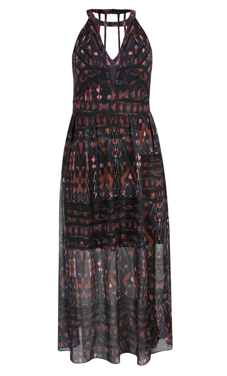 New // CITY CHIC 'So Abstract' Maxi-Dress // Size 18