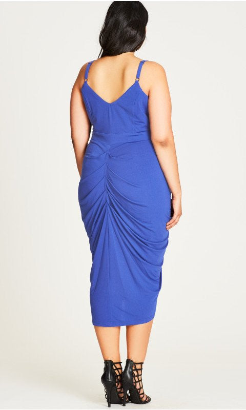 New // CITY CHIC 'Sultry Vixen Draped Dress' // Size 22