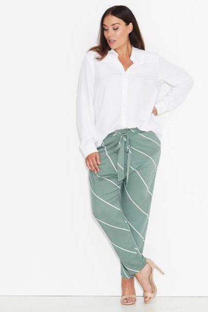 New // 17 SUNDAYS 'Green Stripe Cross Front Pant' // Sizes 18 & 26