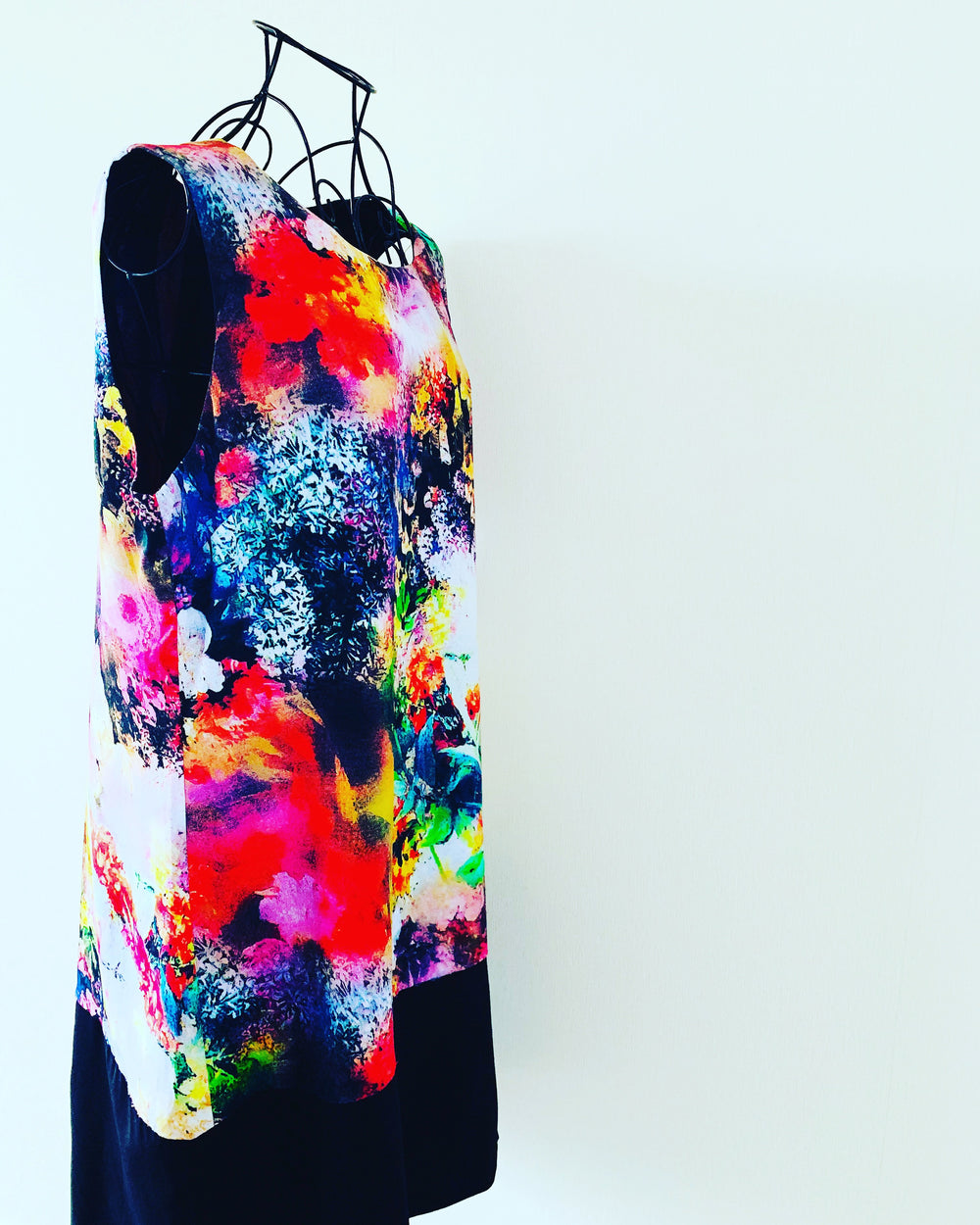 Preloved // SEDUCE Colour Burst Shift-Style Dress // Size 14