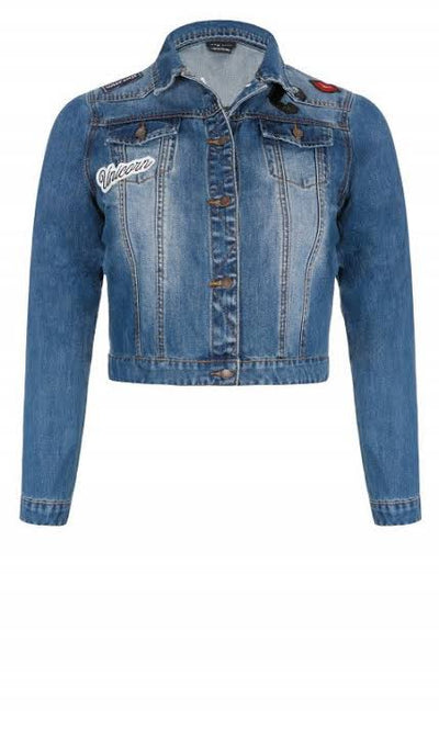 City Chic denim jacket nz