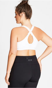 New // CITY CHIC 'Smooth & Chic' Underwire Sports Bra // Size 16E