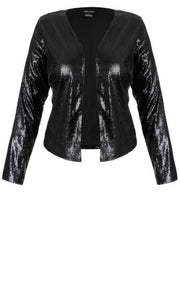 plus size sequin jacket