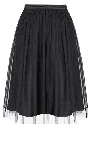 New // CITY CHIC // 'Princess Pleat Skirt' // Sizes 18 & 20