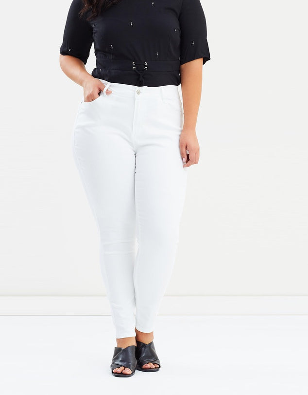 rebel wilson x angels the pin up white jeans
