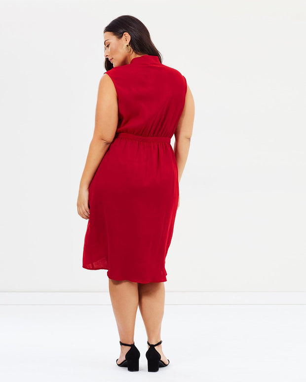 New // ATMOS&HERE CURVY 'Sansa Cross Over Dress' // Size 26