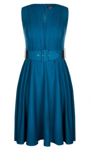New // CITY CHIC 'Vintage Veronica' Dress - Teal // Size 14