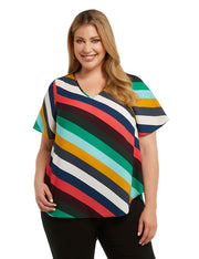 plus size rainbow top nz