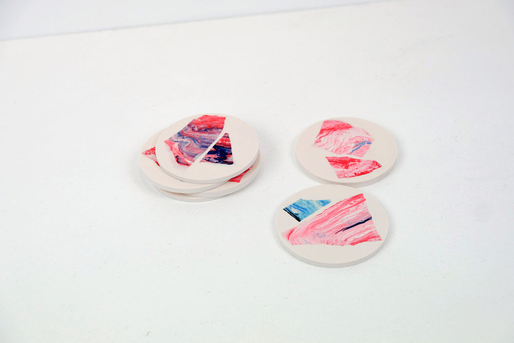 Set of Six Jesmonite Coasters