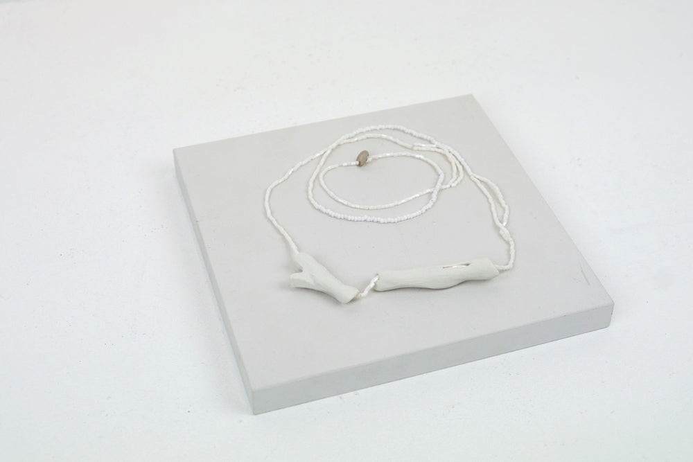 White Kindling Necklace