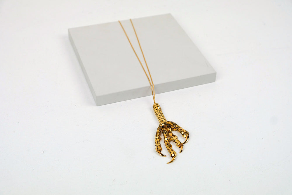 Single Bird Foot Necklace