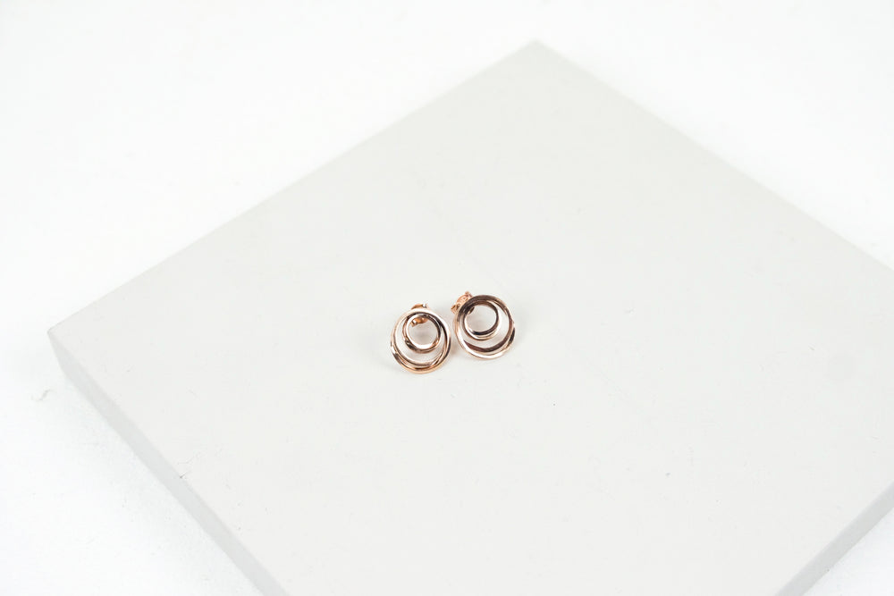 Rose Gold Continuum Studs