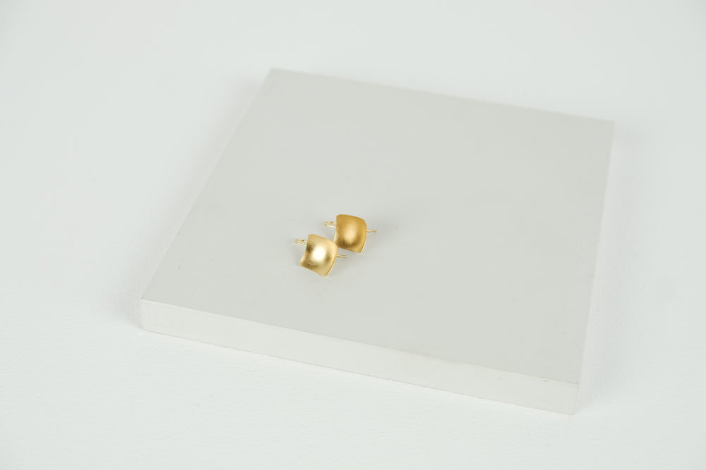 Square Hook Earrings Gold