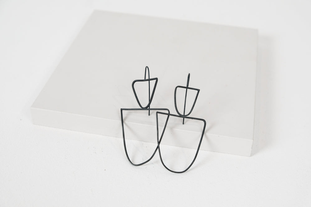 Flat Wire Hook Earrings