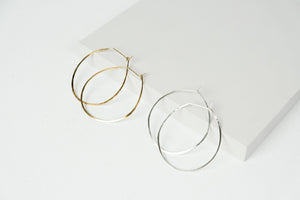 Bare Hoop Earrings
