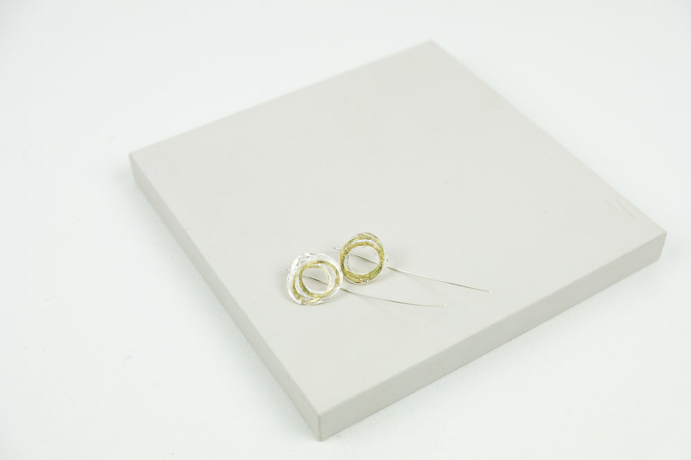Gold and Silver Wrap Earrings
