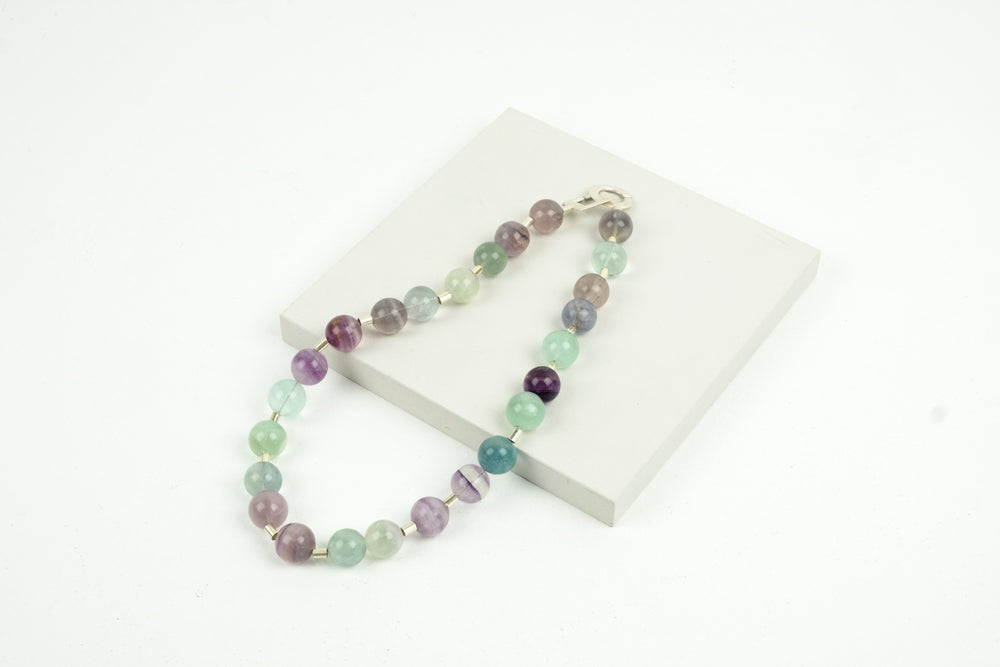 Fluorite Bead Necklace