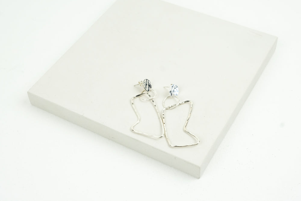 Angled Loop Earrings