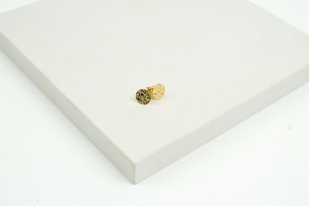 Patterned Gold Studs