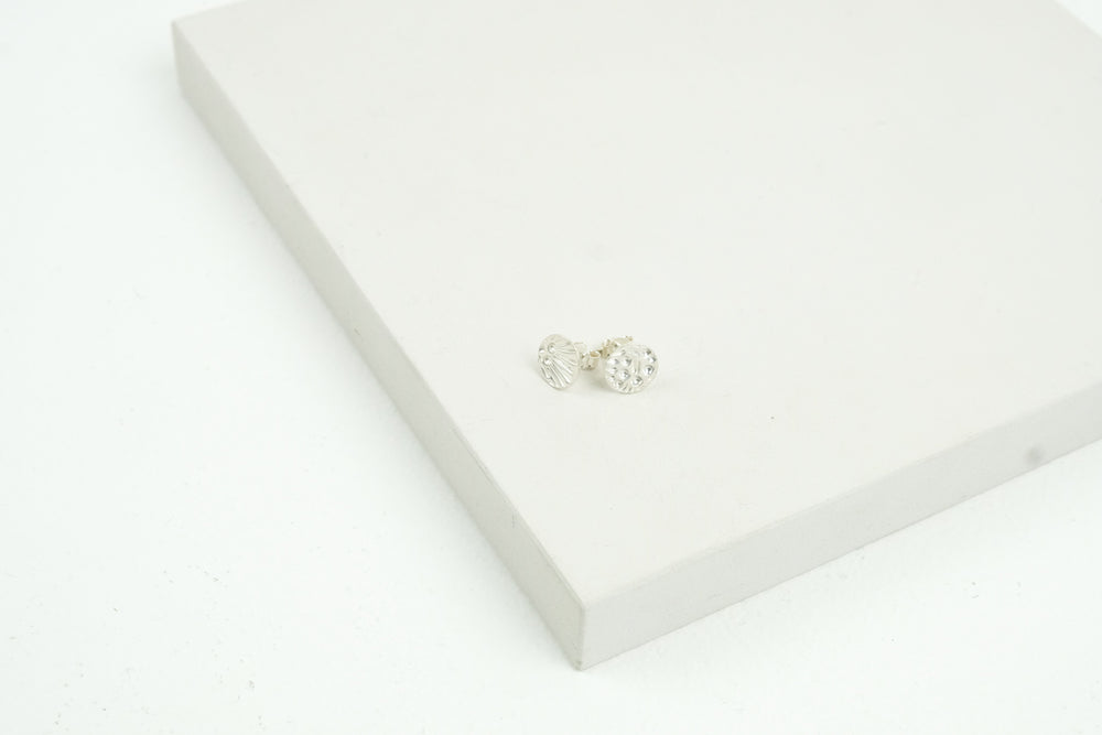 Patterned Silver Studs