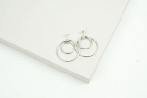Kinetic Double Halo Earrings