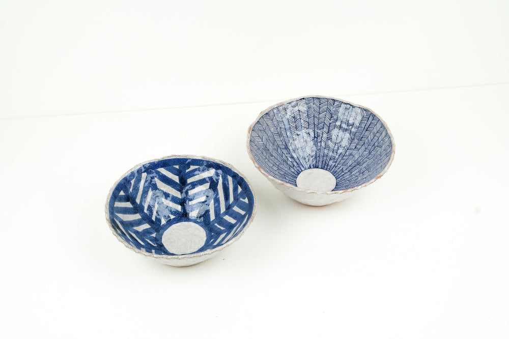Narrow Chevron Bowl