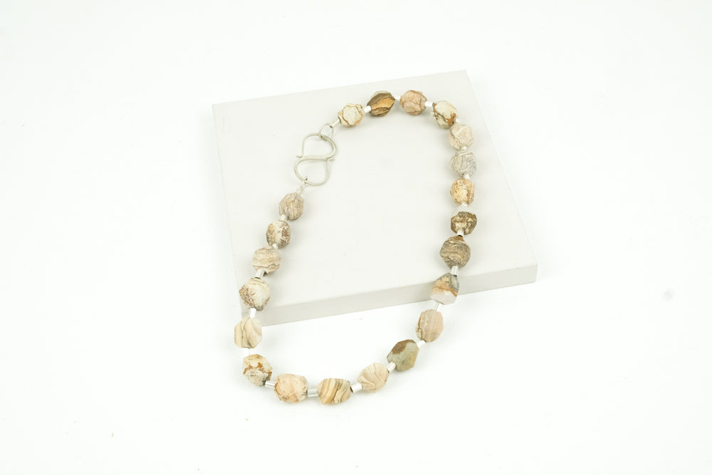 Landscape Jasper Bead Necklace