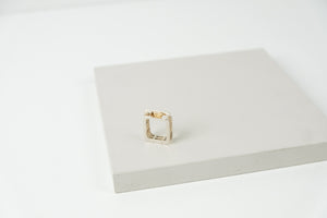 Rectangle Rivet Ring