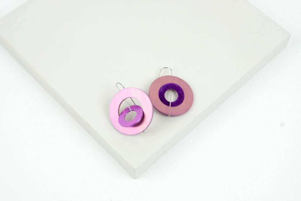 Double Washer Hook Earrings