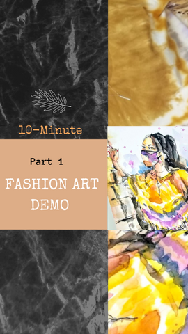10 Minute Fashion Art Speed Paint Art Demo Tutorial