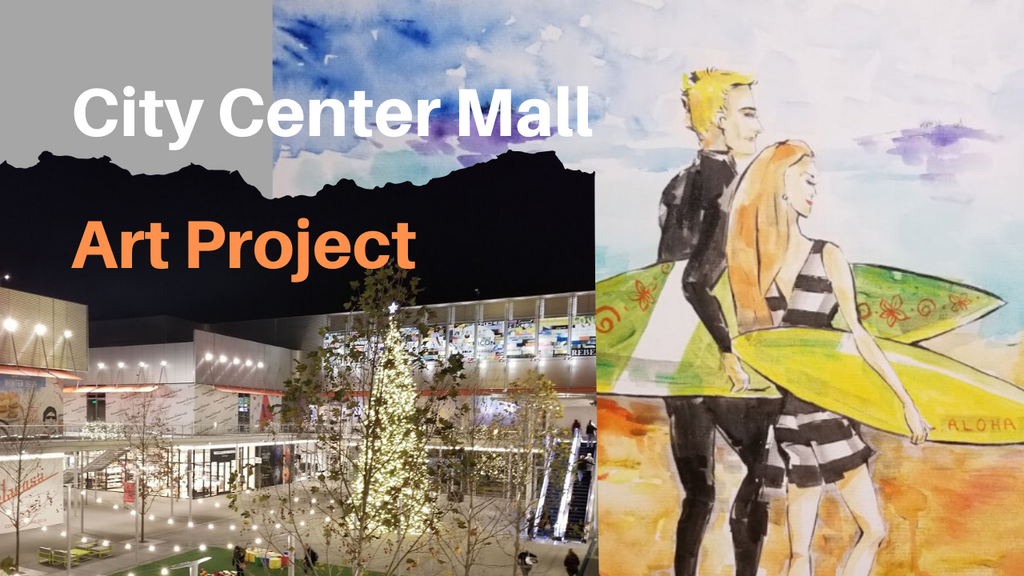 How I Created This Art Project at Business In City Center Mall in San Francisco California
