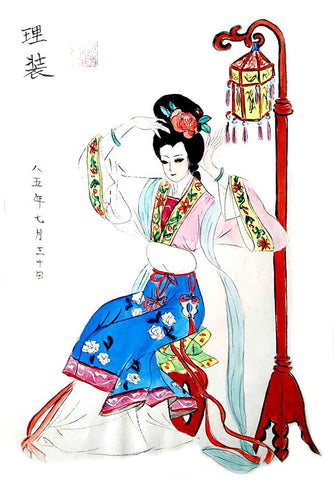 copyright content Dress Up by AQQ Art. Ouyang Watercolor