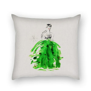 AQQ Studio Contemporary Christmas Fashion Art Square Pillow Cover 18 x 18 Inches