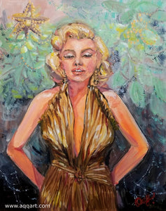 Contemporary Art  - Monroe in Holiday 16 x 20 Inches