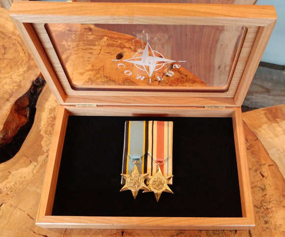 Glass Top Medals Box