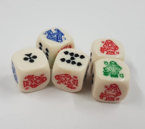 Poker dice (20 dice for $10)
