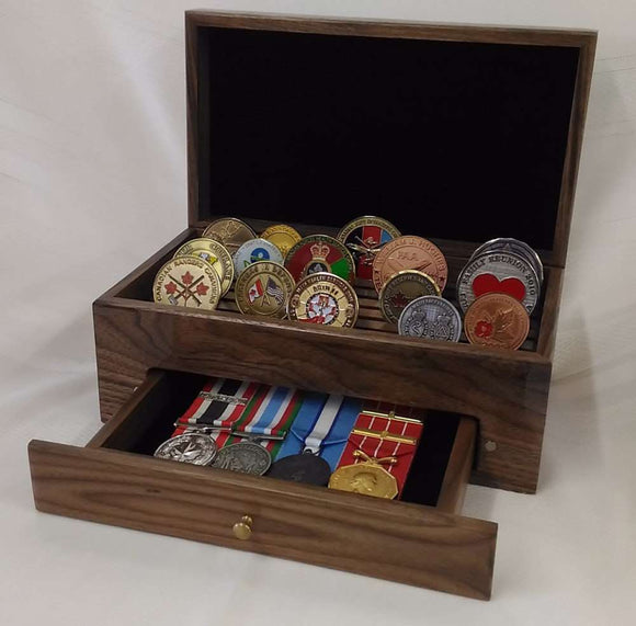 Coin Display Box (with drawer)
