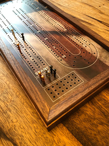 Custom Design CRIBBAGE BOARD -  Engraving Option - Includes 9 pegs