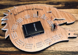Eagle Head Cribbage Game - FREE engraving