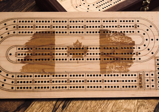 Deluxe Cribbage Game - Walnut and Maple