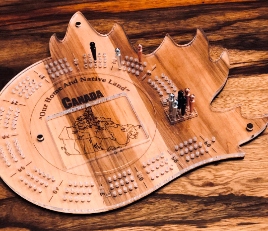Maple Leaf Cribbage Game - FREE engraving