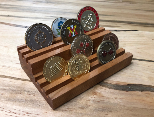 Small challenge coin holder