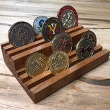 "BOGO Special - Large 14"" Challenge 81 Coin Holder - 3 tier. GET Small coin holder FREE Black walnut or cherry."