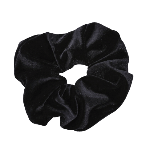 black velvet hair scrunchie