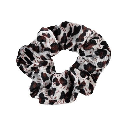 animal print velvet hair scrunchie