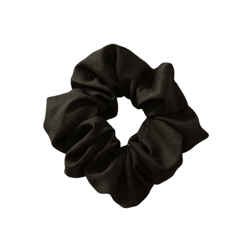 black hair scrunchie