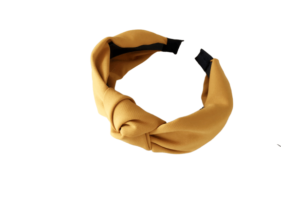 Yellow Knotted Headband