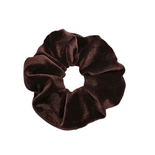 chocoloate velvet hair scrunchie